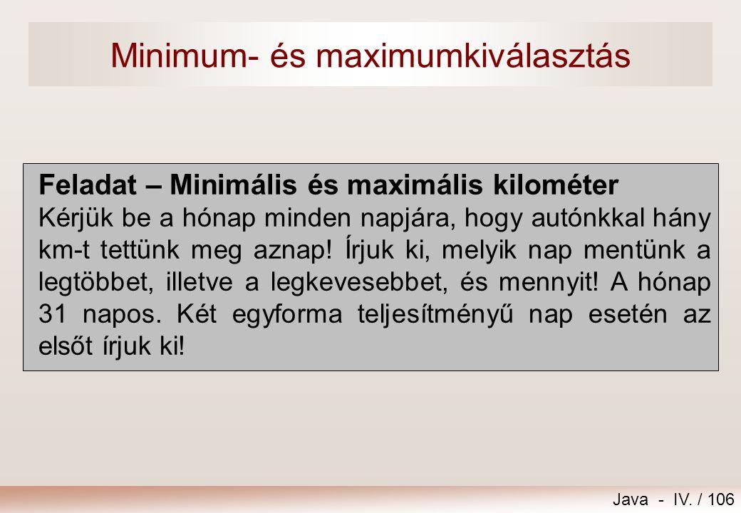 Minimum- és maximumkiválasztás