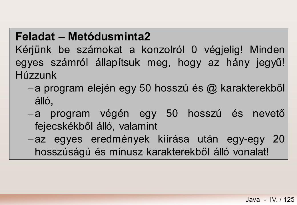 Feladat – Metódusminta2