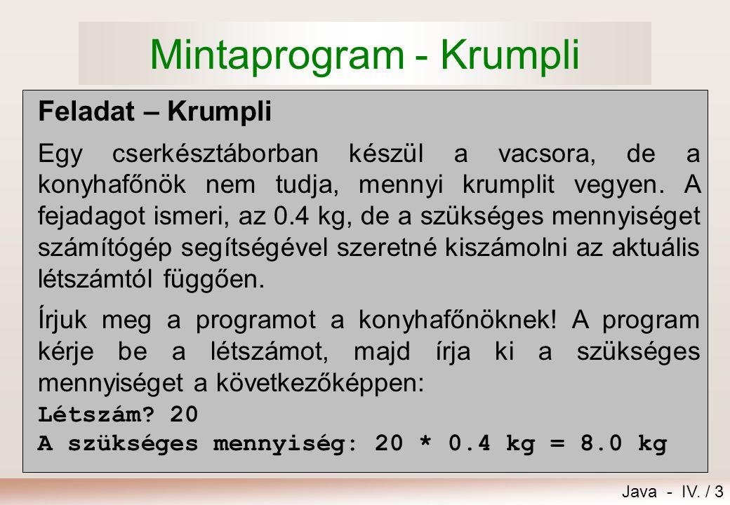 Mintaprogram - Krumpli