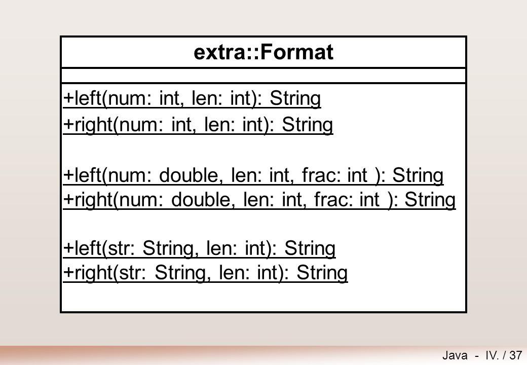 extra::Format +left(num: int, len: int): String