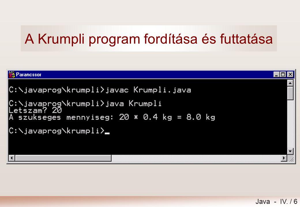 A Krumpli program fordítása és futtatása