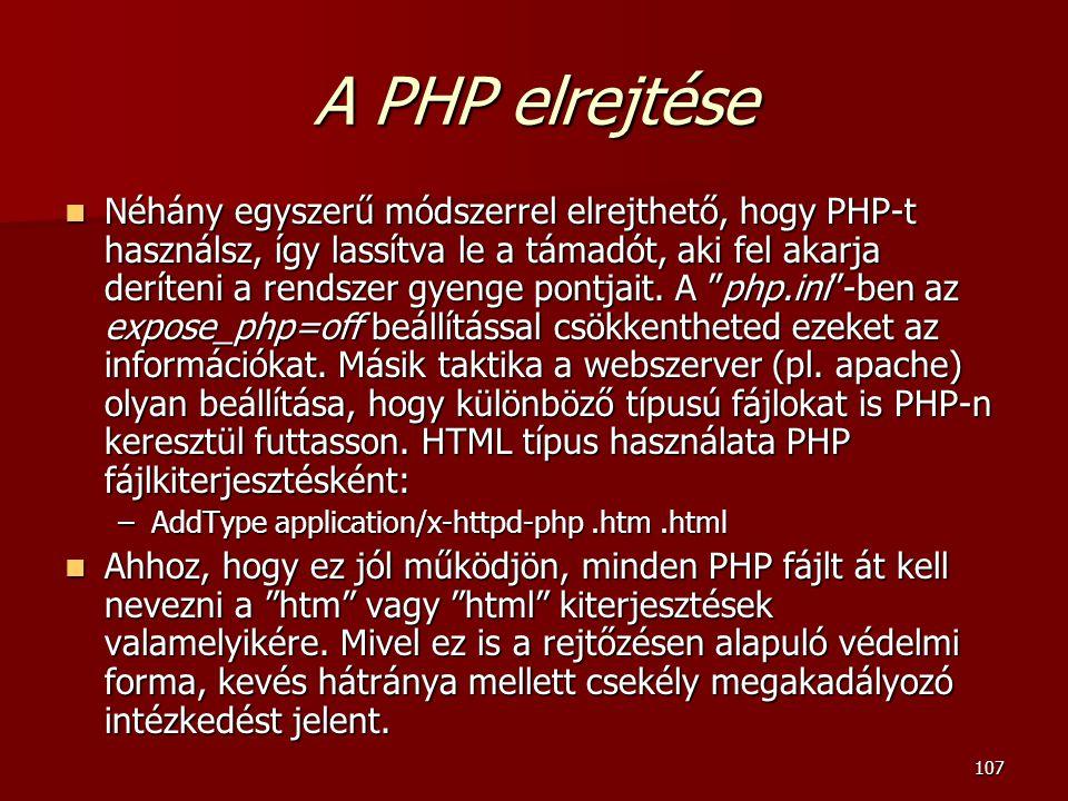A PHP elrejtése