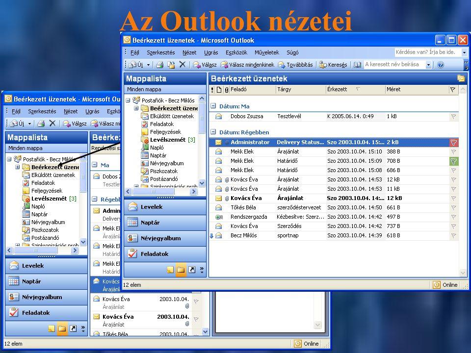 Az Outlook nézetei