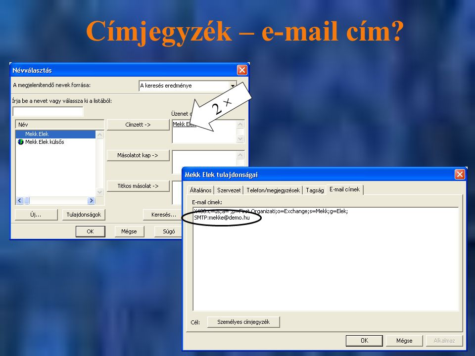 Címjegyzék – e-mail cím