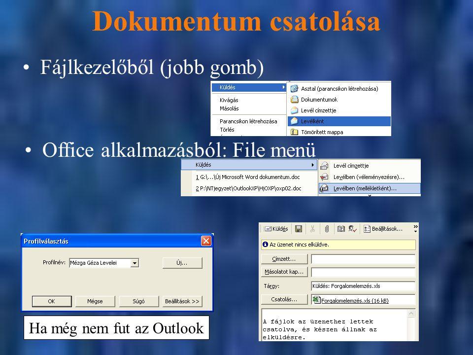 Ha még nem fut az Outlook
