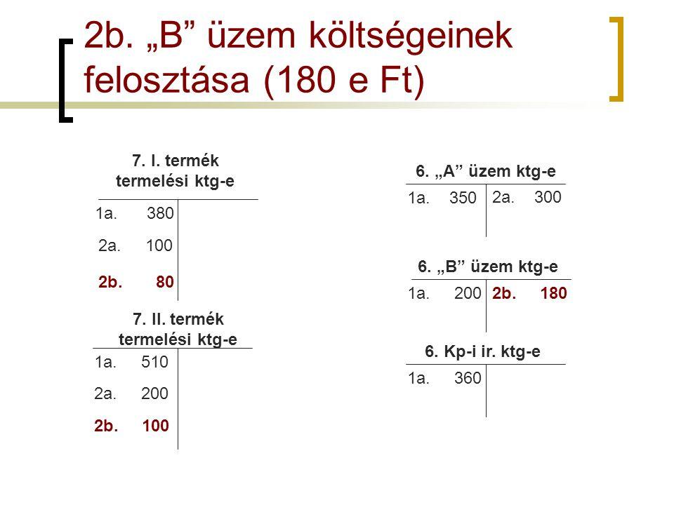 7. I. termék termelési ktg-e 7. II. termék termelési ktg-e