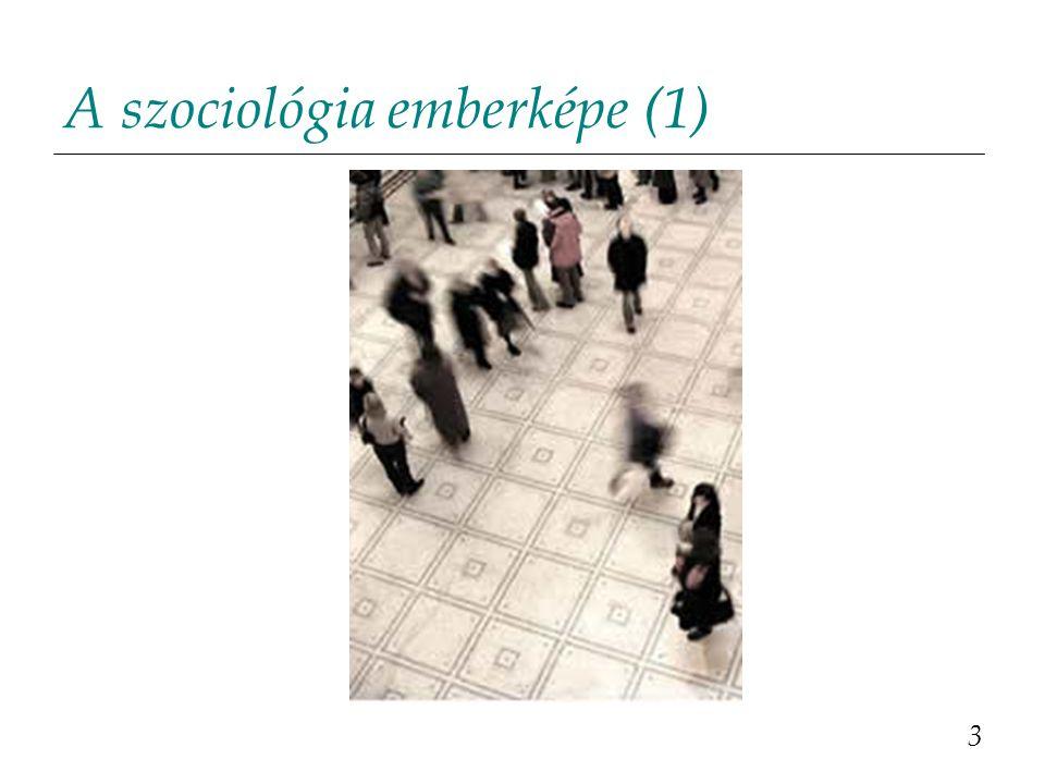 A szociológia emberképe (1)