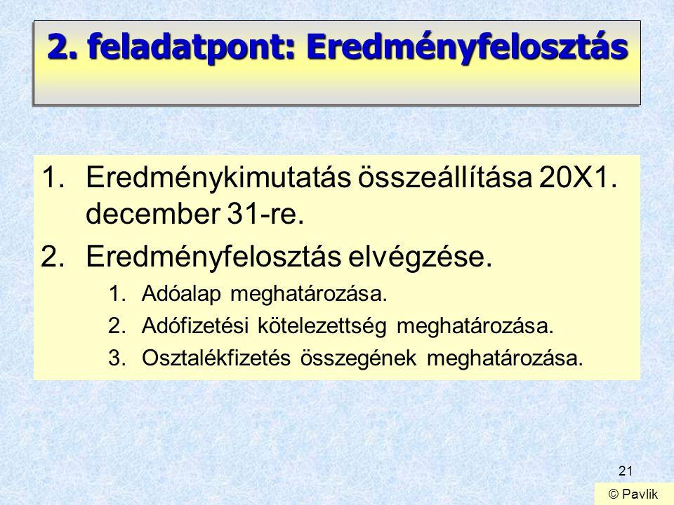 2. feladatpont: Eredményfelosztás
