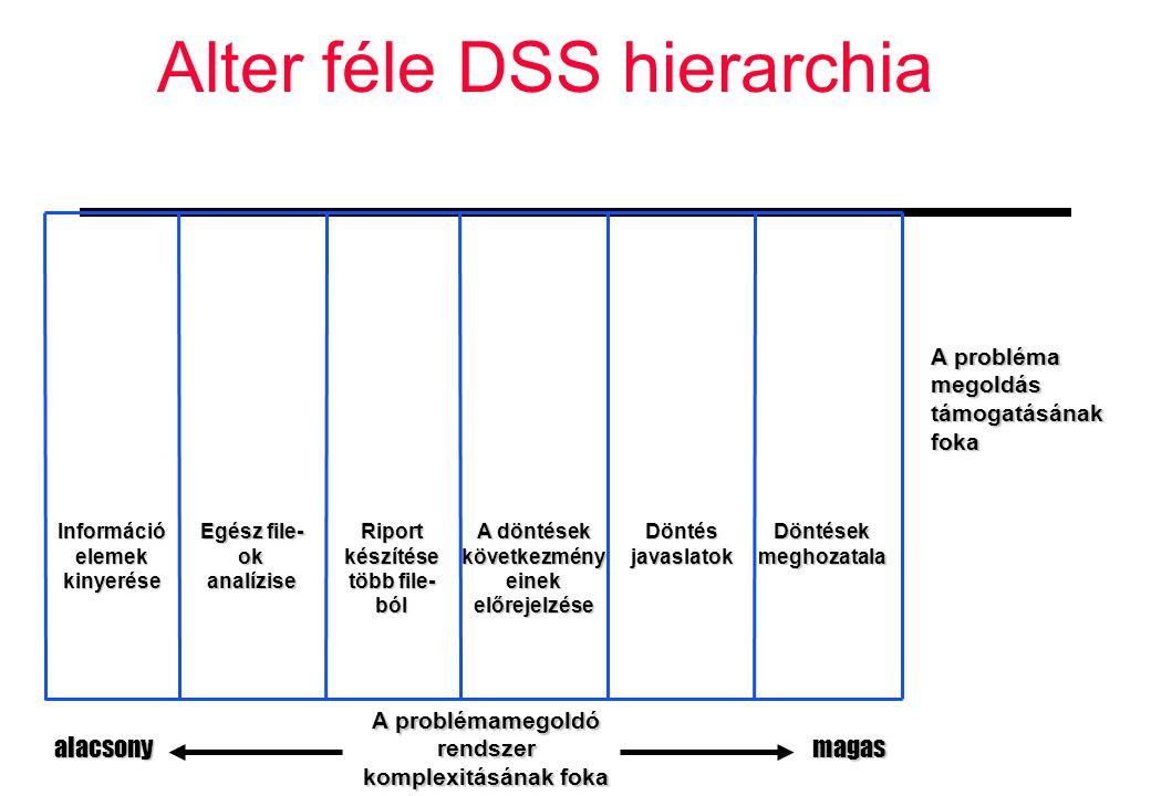 Alter féle DSS hierarchia