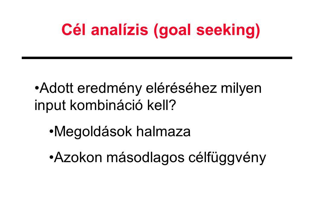 Cél analízis (goal seeking)