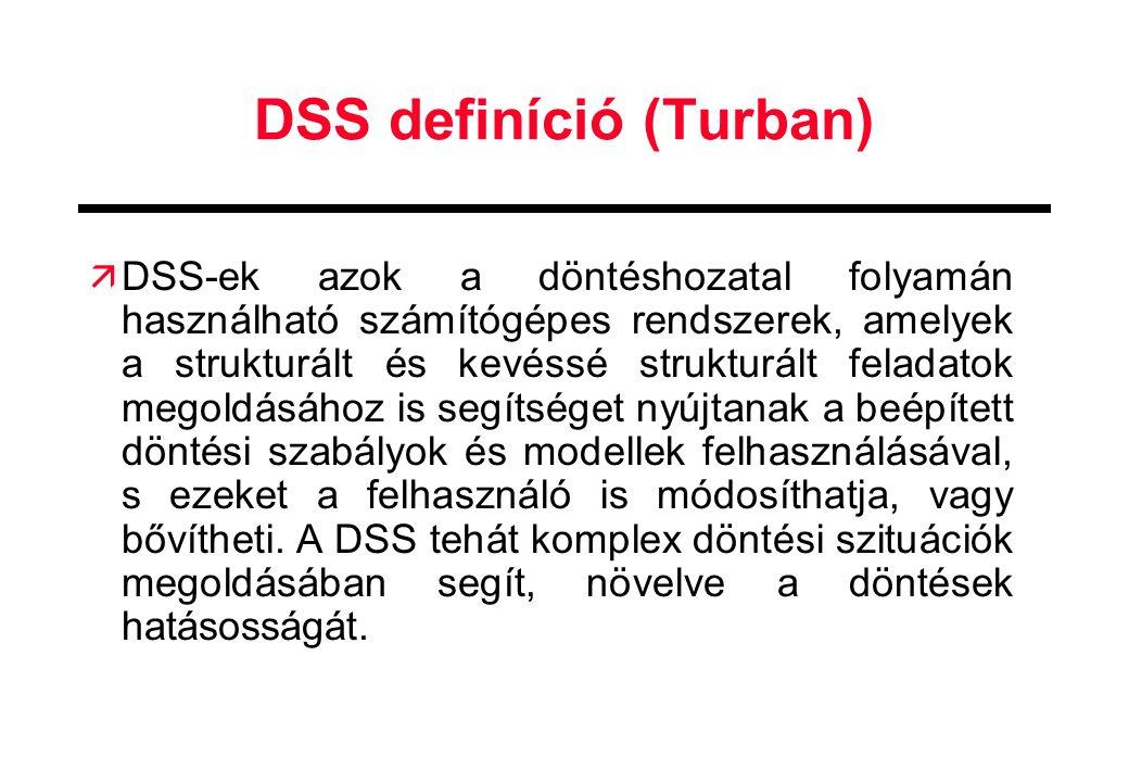 DSS definíció (Turban)