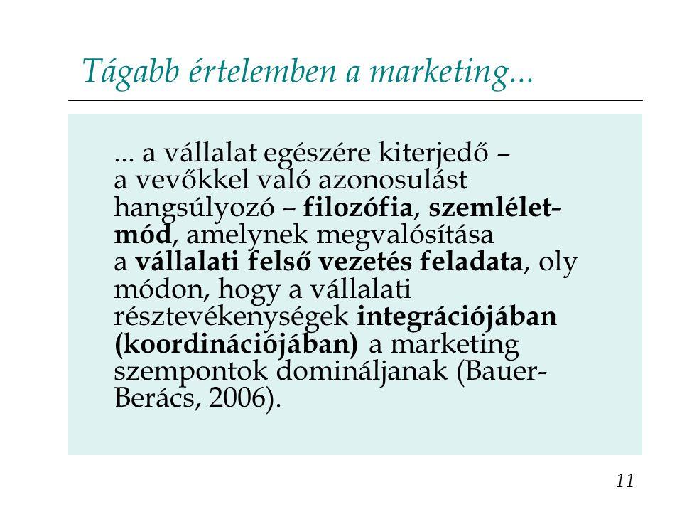 Tágabb értelemben a marketing...
