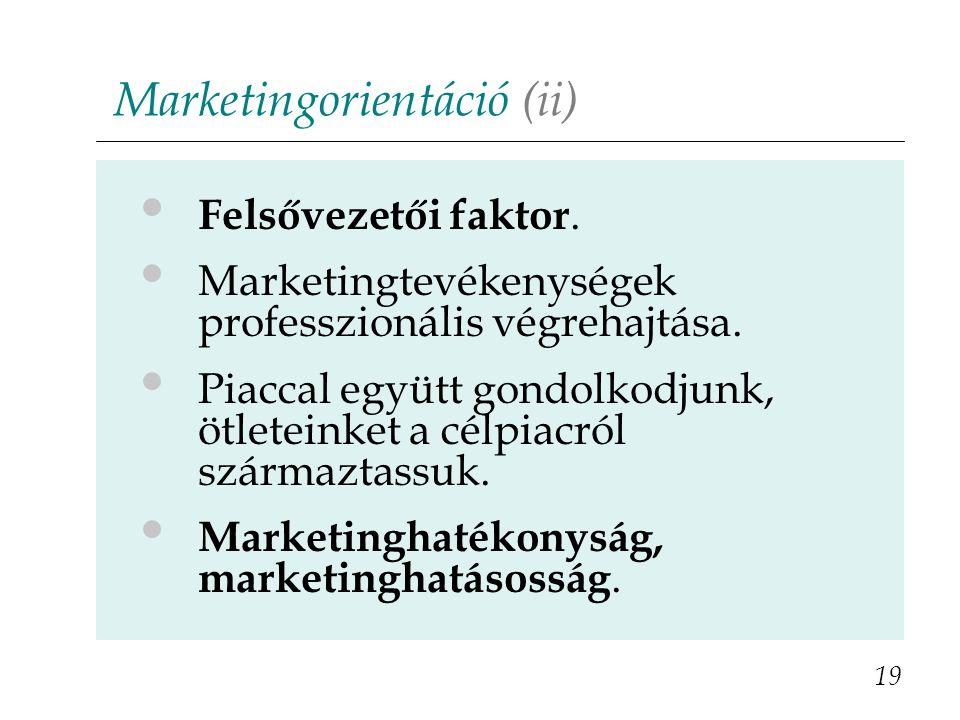 Marketingorientáció (ii)