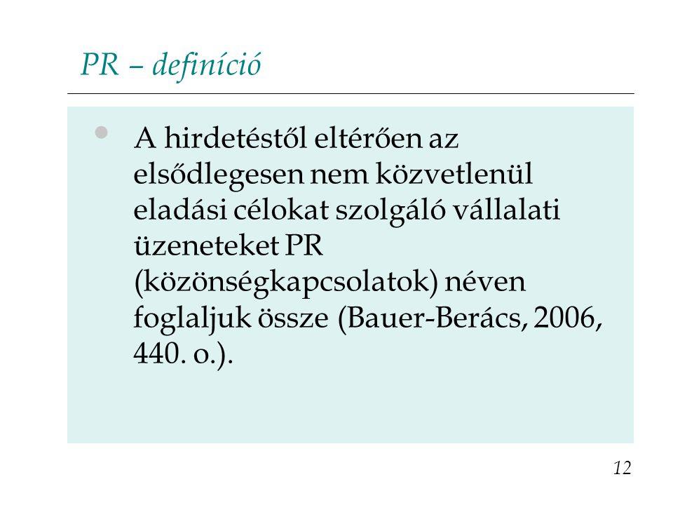 PR – definíció
