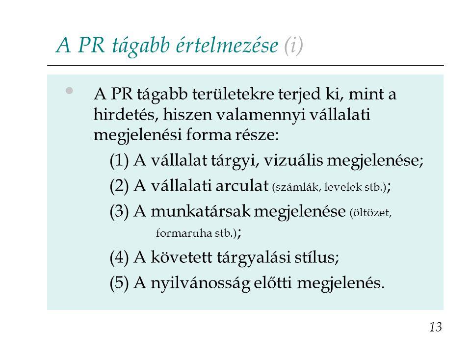 A PR tágabb értelmezése (i)