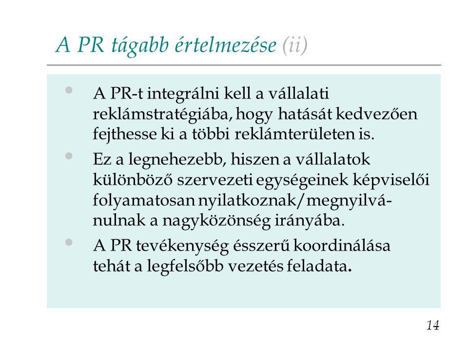 A PR tágabb értelmezése (ii)