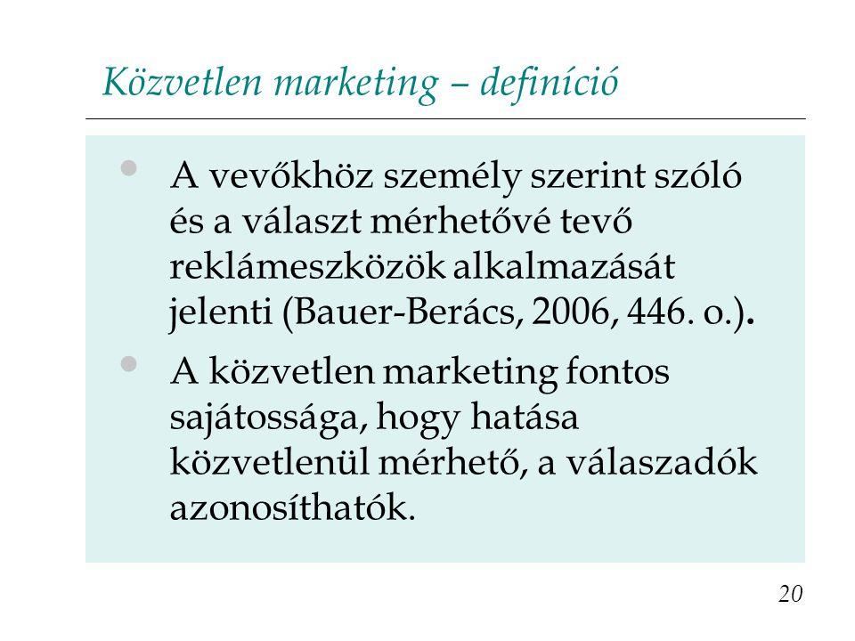 Közvetlen marketing – definíció