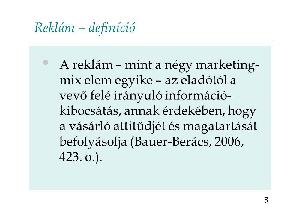 Reklám – definíció