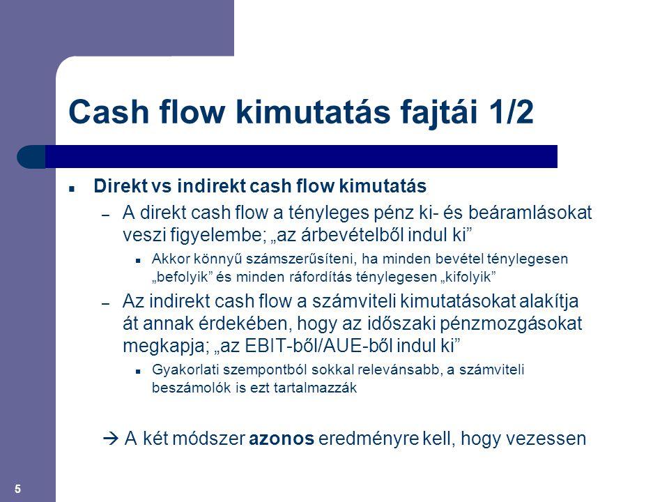 Cash flow kimutatás fajtái 1/2