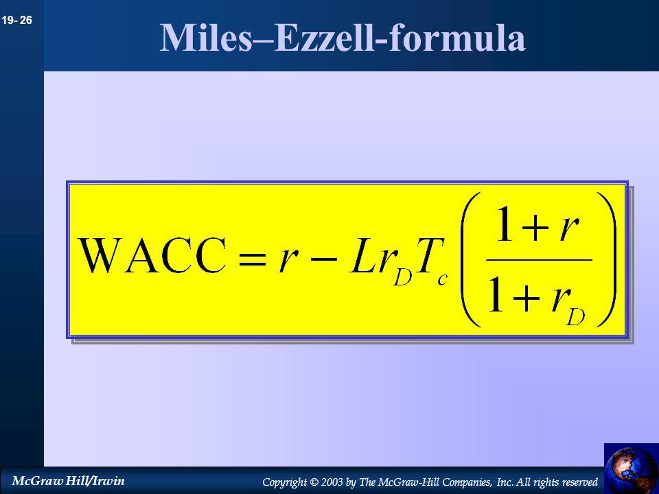 Miles–Ezzell-formula