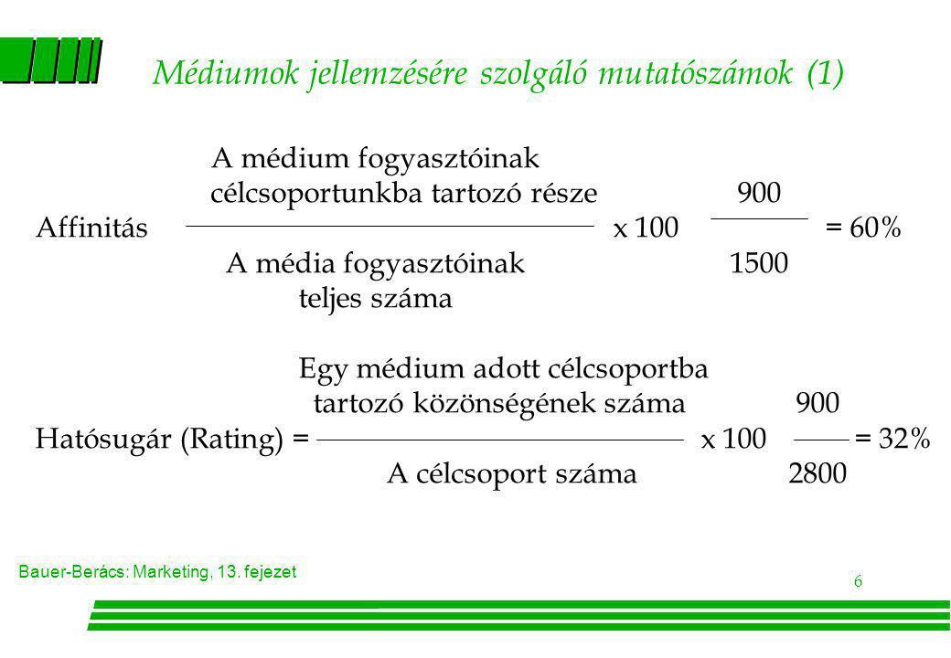 Médiumok jellemzésére szolgáló mutatószámok (1)