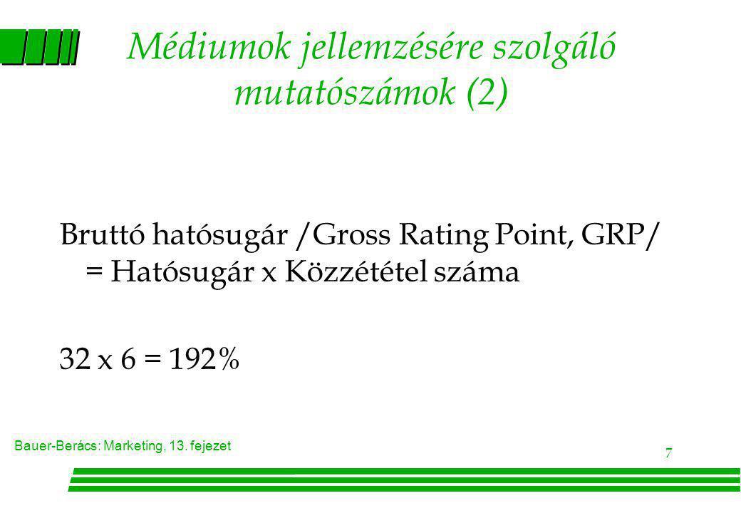 Médiumok jellemzésére szolgáló mutatószámok (2)