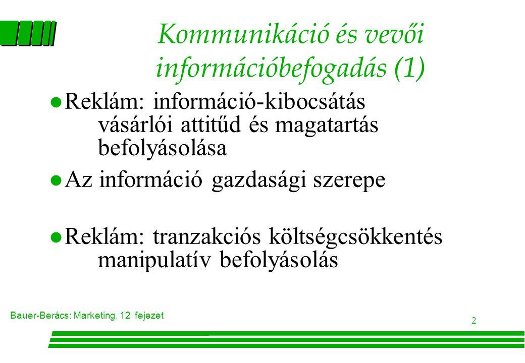 Kommunikáció és vevői információbefogadás (1)