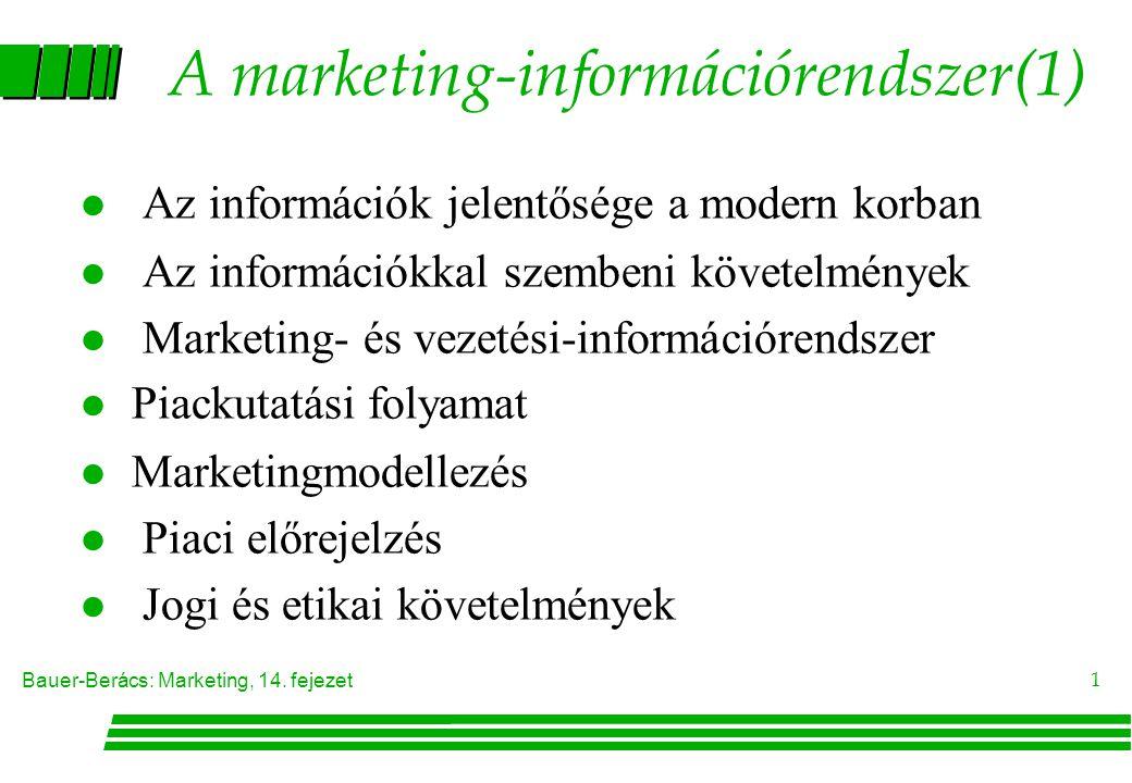 A marketing-információrendszer(1)