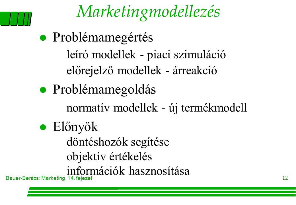 Marketingmodellezés Problémamegértés Problémamegoldás Előnyök