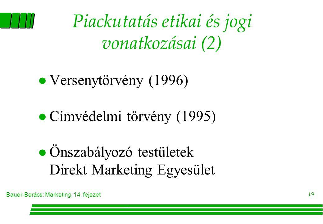 Piackutatás etikai és jogi vonatkozásai (2)