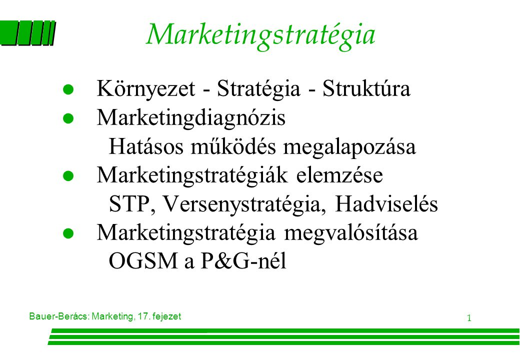 Marketingstratégia Környezet - Stratégia - Struktúra