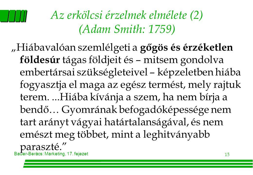 Az erkölcsi érzelmek elmélete (2) (Adam Smith: 1759)