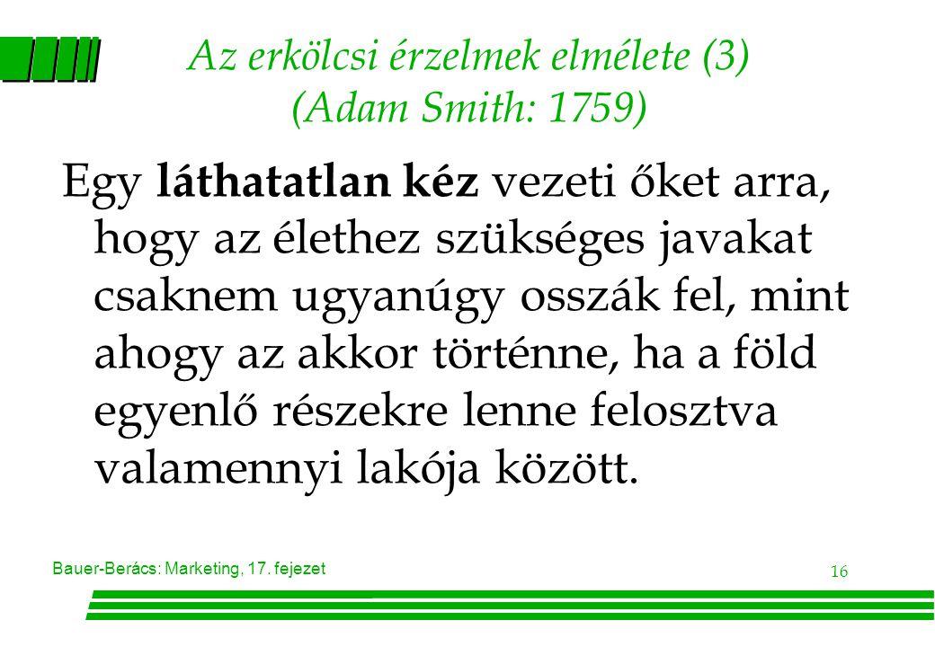 Az erkölcsi érzelmek elmélete (3) (Adam Smith: 1759)