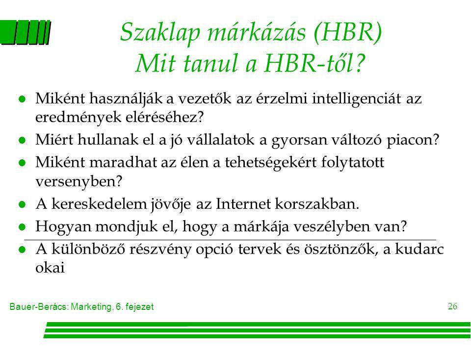 Szaklap márkázás (HBR) Mit tanul a HBR-től