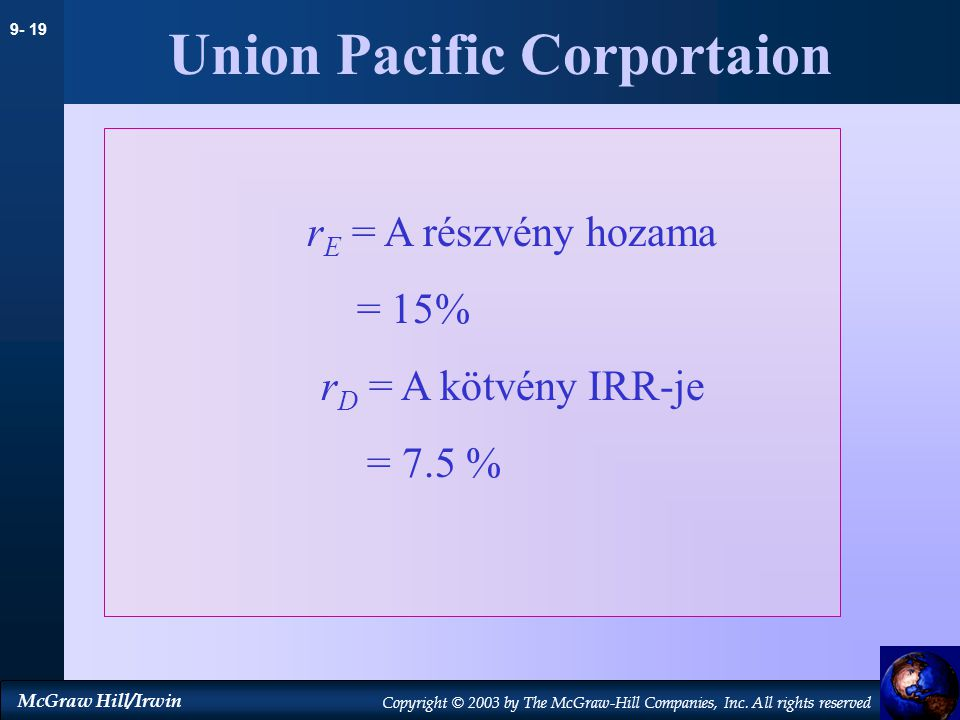 Union Pacific Corportaion