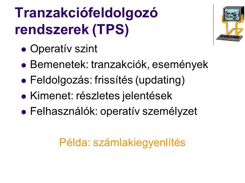 Tranzakciófeldolgozó rendszerek (TPS)