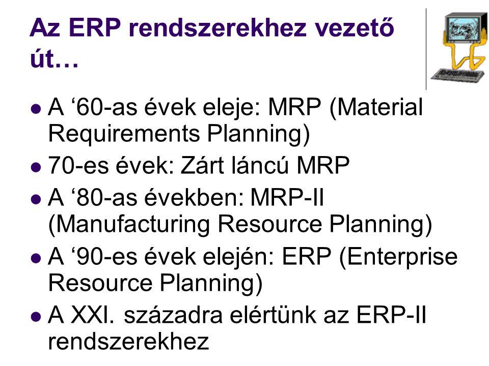 Az ERP rendszerekhez vezető út…
