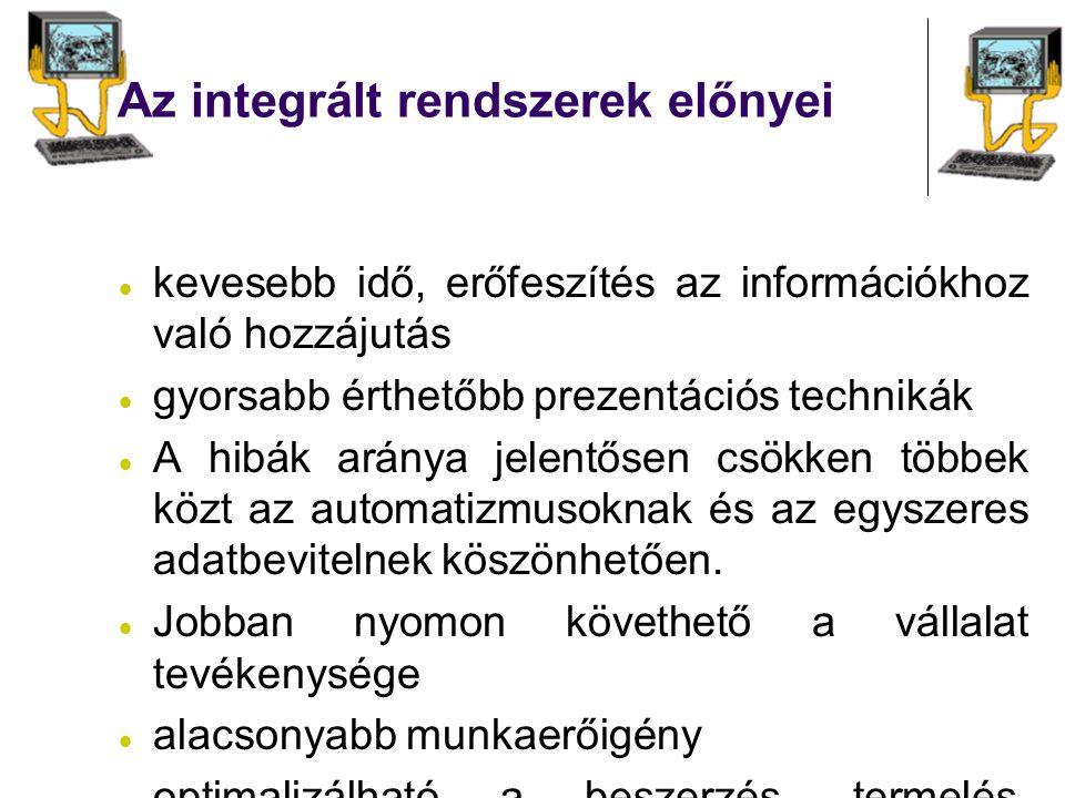 Az integrált rendszerek előnyei
