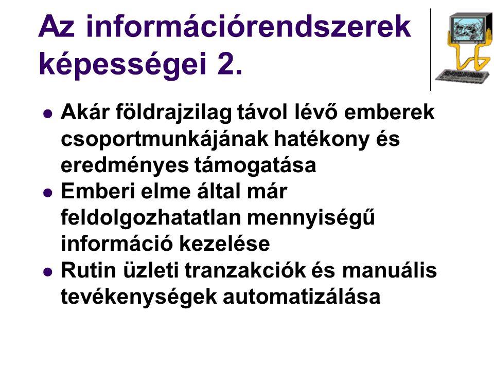 Az információrendszerek képességei 2.