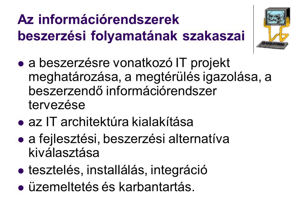 Az információrendszerek beszerzési folyamatának szakaszai