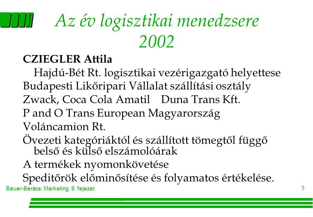 Az év logisztikai menedzsere 2002