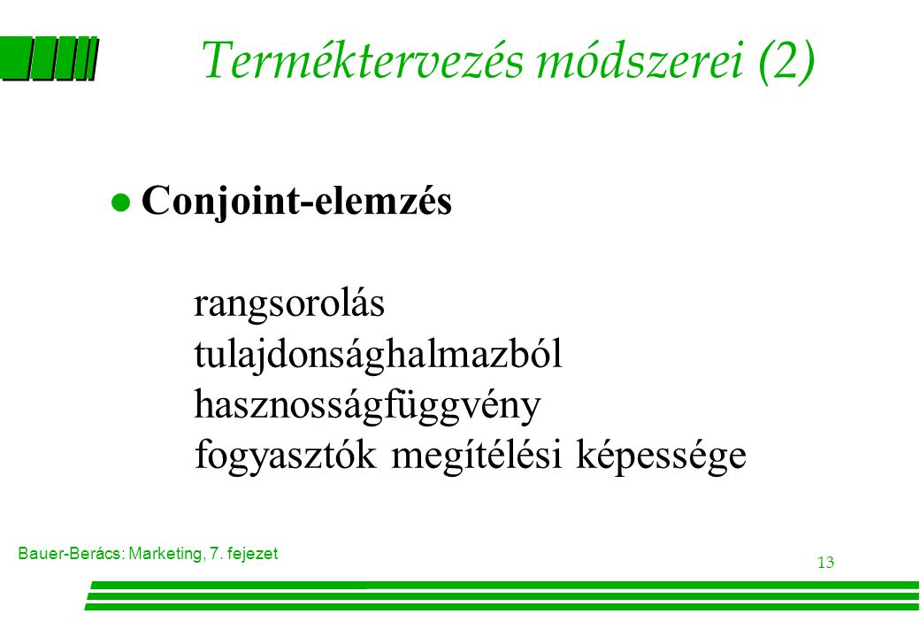 Terméktervezés módszerei (2)