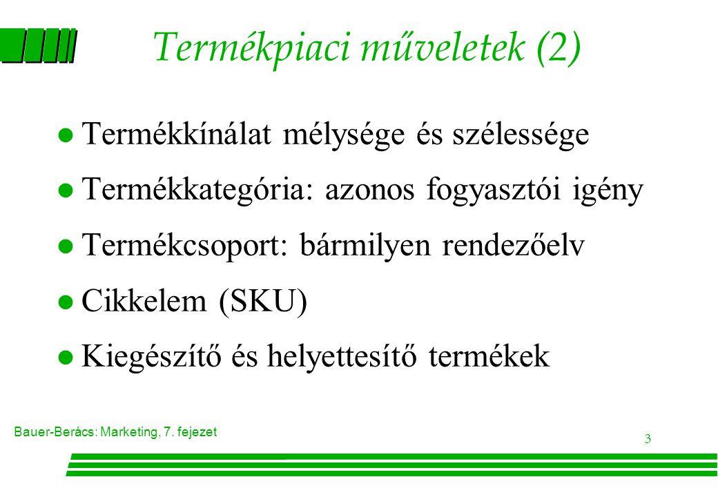 Termékpiaci műveletek (2)