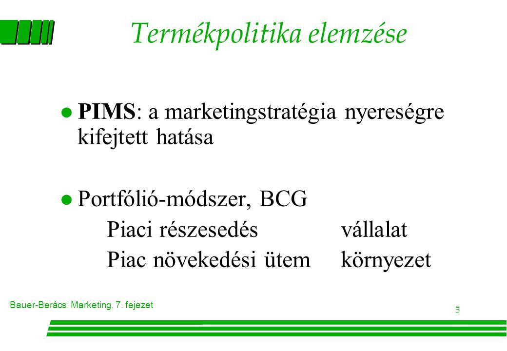 Termékpolitika elemzése