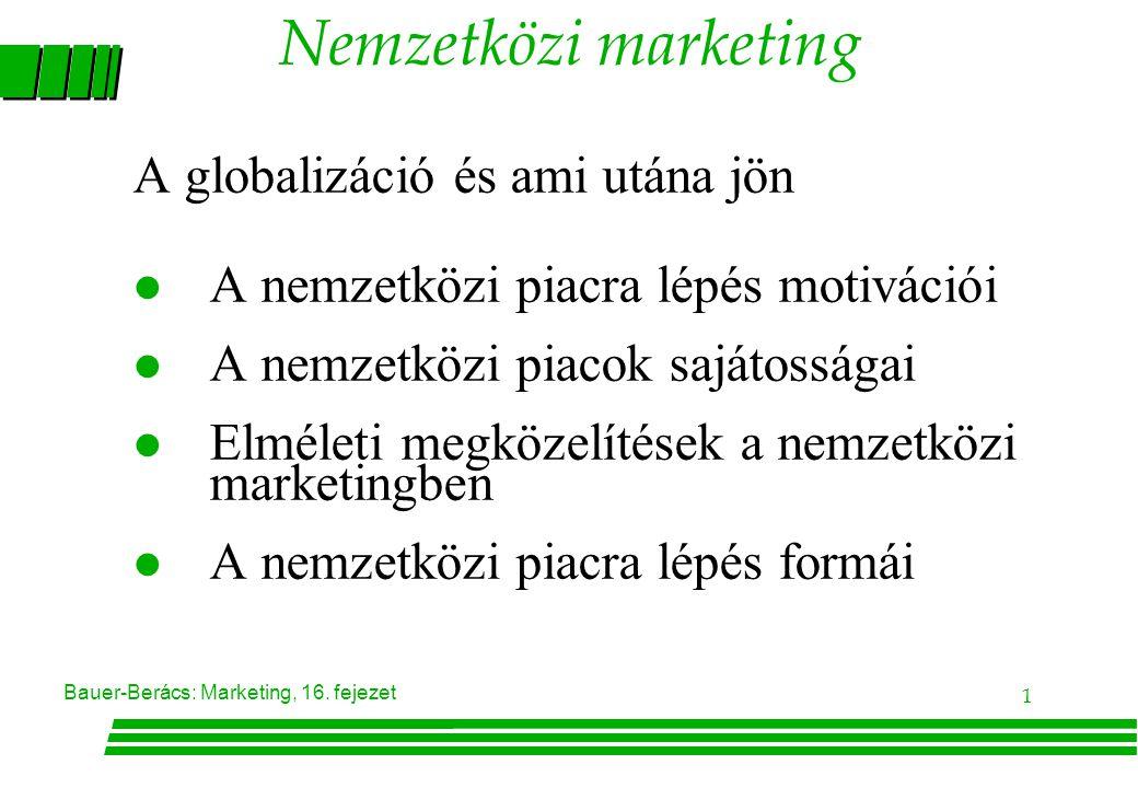 Nemzetközi marketing A globalizáció és ami utána jön