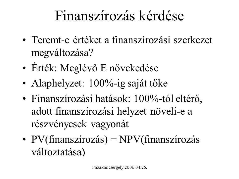 Finanszírozás kérdése