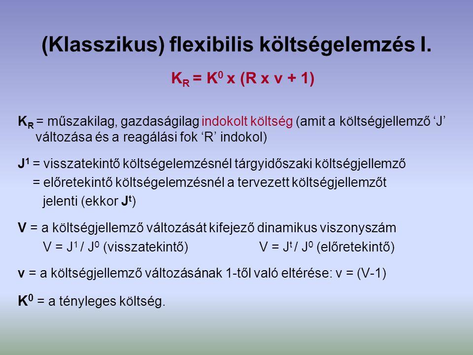 (Klasszikus) flexibilis költségelemzés I.