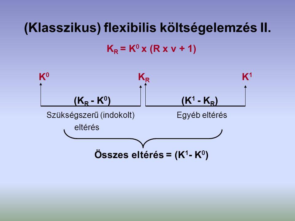 (Klasszikus) flexibilis költségelemzés II.