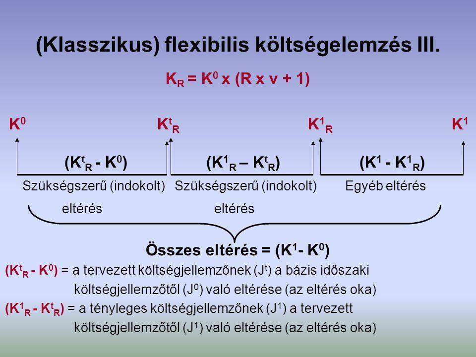 (Klasszikus) flexibilis költségelemzés III.