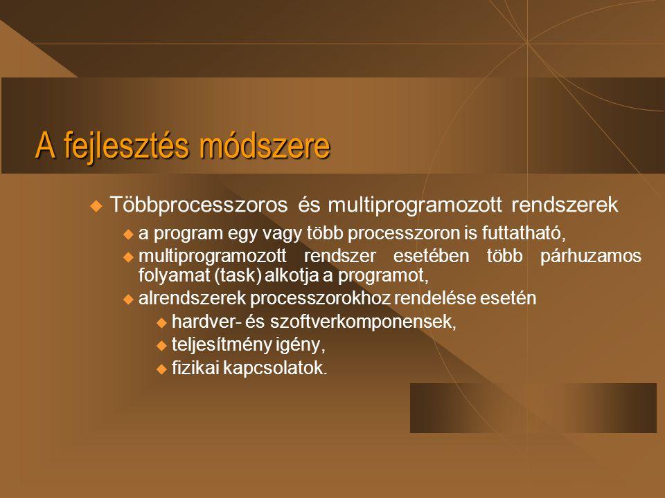 A fejlesztés módszere Többprocesszoros és multiprogramozott rendszerek